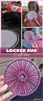 locker embroidery rug tween craft idea