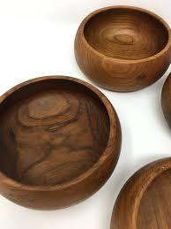 wood salad bowl set wooden kohls 7 piece mahogany canada