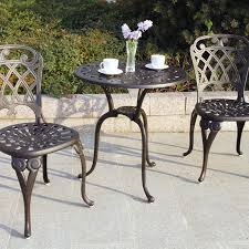 darlee san marino 3 piece cast aluminum patio bistro set antique bronze