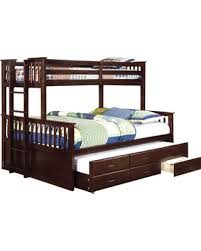 Score Big Savings: Sandra Bunk Bed with Trundle Bed Frame Color ...