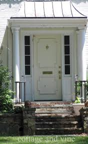 white single front doors. Magnificent Front Porch Portico Design For Your Beautiful House : Modern White Single Doors