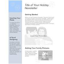 family newsletter family holiday newsletter template