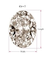How To Calculate The Carat Of Oval Cut Diamonds