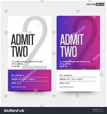 Party Tickets Templates Admit Two Entrance Ticket Template Live Stock Vector 24 23