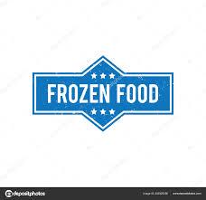 Food Product Label Design Template Frozen Food Product Label Grunge Textured Vector Design