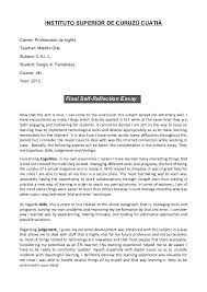 example of reflective essay on self co call final self reflection essay example
