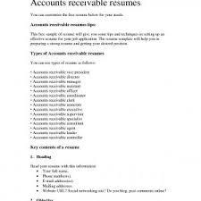 Accounts Receivable Resume Examples Accounts Receivable Coordinator Resume Sample New Resume Resumes