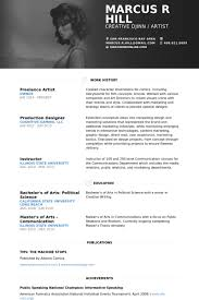 Freelance Artist Resume samples