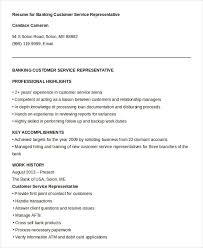 Marvelous Sample Resume For Customer Service Representative In Bank 22 With  Additional Good Resume Objectives with Sample Resume For Customer Service  ...