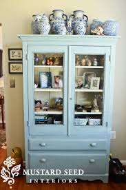 Hutch Kitchen Furniture Furniture Fascinating Light Blue Kitchen Hutch And Vintage Blue