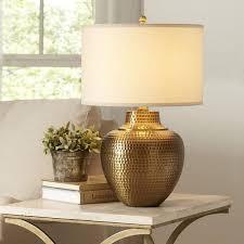 lane kaden brass table lamp intended for hammered metal inspirations 3