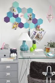 4 colorful hexagon pinboard diy project