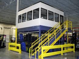 mezzanine office. Mezzanine Office Above Caged, Secure Storage