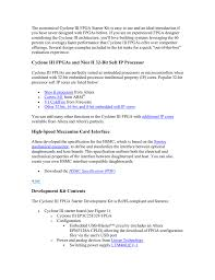 Nios Ii Embedded Design Suite Cyclone Iii Fpgas And Nios Ii 32 Bit Soft Ip Processor High