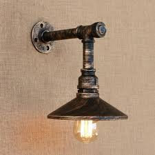 pipe lamp loft style iron water pipe lamp wall sconce with switch retro wall light fixtures pipe lamp