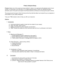 Critical Analysis Essay Example Paper Poem Analysis Essay Best Guide On How To Write A Poetry Analysis