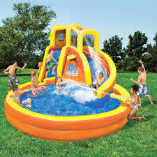 Inflatable Water Slide Pool Bounce House Commercial Bouncer Water Slides Backyard