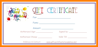 Birthday Coupon Templates Free Printable Under Fontanacountryinn Com