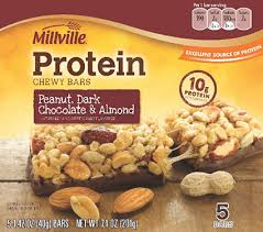 various millville protein chewy bars recalled sold at aldi us food safety