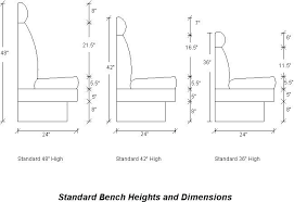 bench seat height. Standard Bench Height And Depth Window Seat Breakfast Nook Dimensions Picture With .