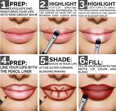 how to use highlighter brush. amazon.com : aesthetica matte lip contour kit - contouring and highlighting lipstick palette set includes six crèmes, four liners, brush how to use highlighter