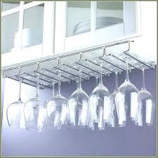 stemware rack ikea under cabinet wine glass rack wine rack under cabinet stemware rack brushed nickel