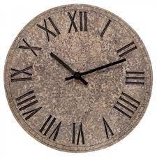 outside garden rock clock stone effect