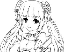 高画質塗り絵戦乱プリンセス奏ちゃん ニコニコ静画 イラスト