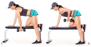 bend over row with dumbbell