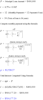 loan formulas amortization formulas math calculators