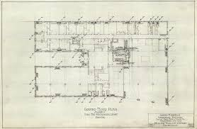 ground floor plan used for mechanical layout heating for apartment building social hall avenue and state street salt lake city utah