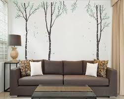 set of 3 wall decal vinyl tree art stickers