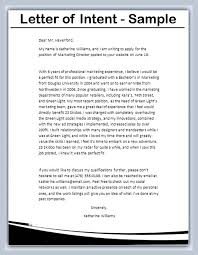Letter Of Intent Sample Writing Professional Letters