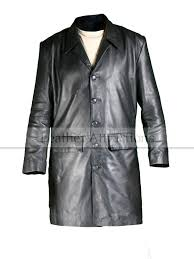 milan three quarter men s leather trench coat 288 00 248 00
