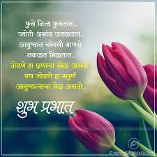 Good Morning Quotes In Marathi With Images Best Of Marathi Quote Good Morning Flowers Marathi GoodMorning Quotes