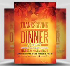 Template For Event Flyer Thanksgiving Dinner Event Flyer Template Flyerheroes Thanksgiving