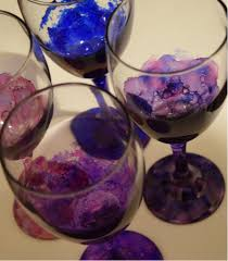 real bride shannon alcohol ink stained wine glass tutorial multiple colored finished glasses