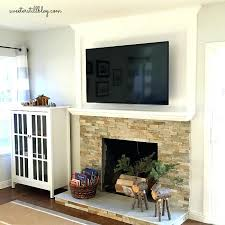 how to redo a stone fireplace fireplace redo refinish old stone fireplace