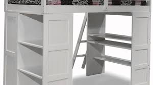 best free canwood skyway loft bed with desk and storage tower twin white