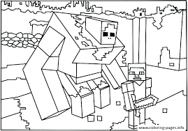Coloring Minecraft Creeper Coloring Pages Printable Free Coloring