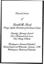 Invitation For Funeral Presidential Funeral Memorabilia 7