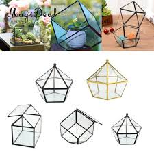 magideal glass geometric terrarium tabletop planter for air plants succulent fern moss diy wedding decorative box no plants glass vase decor glass vase