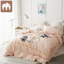 man dian solid color thick autumn winter children s four piece bedding set can love card