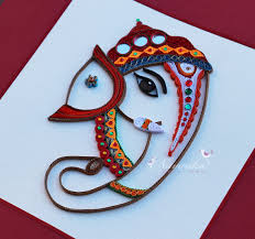 on ganesh wall art uk with made to order handmade paper quilling lord ganesha framed