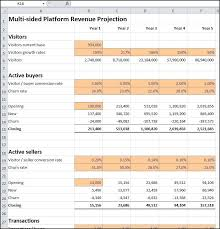 Profit Projections Template Multi Sided Platform Revenue Projection How To Plan