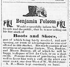 Benjamin Folsom 31 JUL 1850 - Newspapers.com