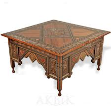 syrian coffee table inlaid with mother of pearl moroccan coffee table sydney furniture round table wood carving diy brass grey table