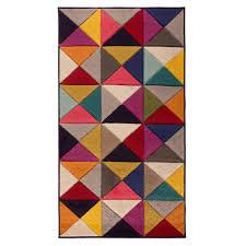 samba triangles multi colour twist texture hand carved