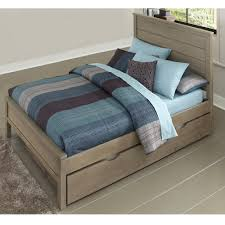 Highlands Alex Wood Trundle Bed in Driftwood