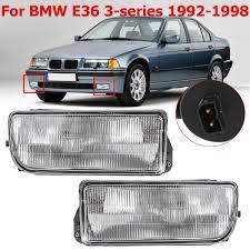 E36 Fog Light Lens Us 25 78 35 Off Front Bumper Fog Light For Bmw E36 1992 1993 1994 1995 1998 H1 Base Without Bulbs Car Detector Headlights Lens Lamp Car Styling In